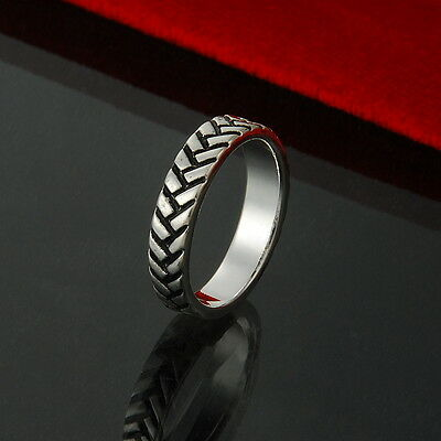 UK Hot Special Offer Solid Silver Jewelry Men Women Rings+Gift Box R925