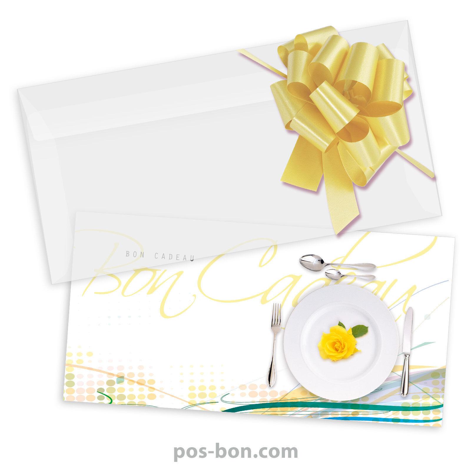 Bons cadeaux  enveloppes  nœuds rub. pour restaurants, gastronomie G92015F | Vollständige Spezifikation  | Ästhetisches Aussehen