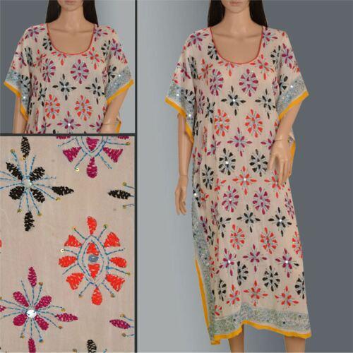 Tcw Hand Embroidered Caftan Phulkari Kaftan Made F
