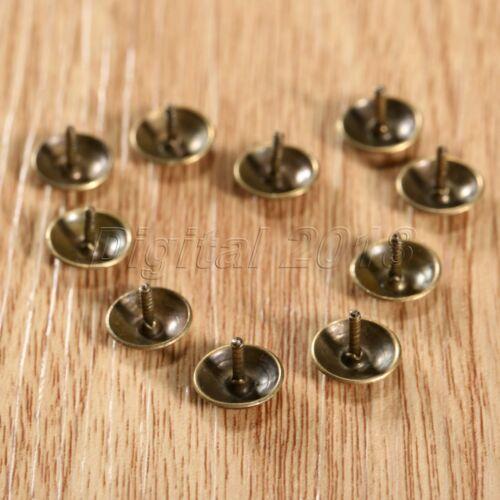 50//100X vintage en laiton recouvert de nai Bijoux Boîte Cadeau meubles décoratifs punaises