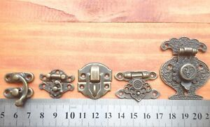 Vintage Style Decorative Jewelry Gift Wooden Box Hasp Latch Hook UK stock