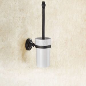 Details About Oil Rubbed Bronze Bathroom Accessories Wall Mounted Toilet Brush Holder Set