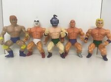 Sungold Vintage Figures MOTU Knock Off Wrestlers Remco Galaxy Warriors X5 Bundle