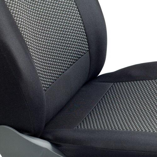 Schwarz-graue Dreiecke Sitzbezüge für FIAT FIORINO Autositzbezug VORNE