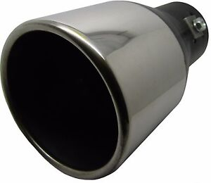 Image is loading 160MM-STAINLESS-STEEL-BIG-BORE-CAR-EXHAUST-TAIL-  sc 1 st  eBay & 160MM STAINLESS STEEL BIG BORE CAR EXHAUST TAIL PIPE TRIM CHROME TIP ...