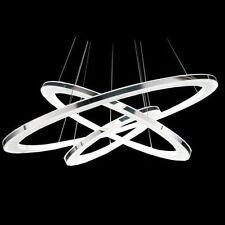 Modern 3 tier LED Ring Chandelier Pendant Lamp Ceiling Lighting Light Fixture US