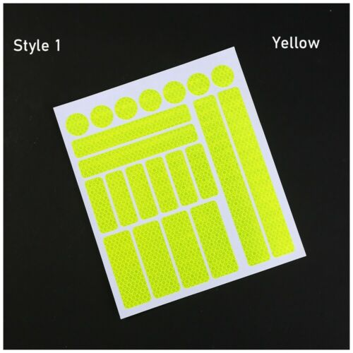 Reflective Stickers Fluorescent Motorcycle Cycling Wheel Rim Night Safty Warning