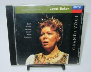 JANET BAKER: GRANDI VOCI MUSIC CD, 16 TRACKS, BACH, PURCELL, RAVEL, DECCA RECORD