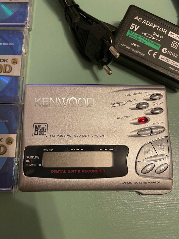 Bærbar minidisc, Kenwood, DMC-G7R