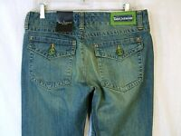 Tara Jarmon Green Accent Embellished Jeans, Size 11,