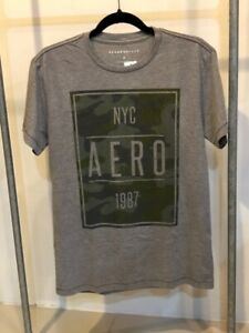 AUTHENTIC-AEROPOSTALE-MEN-039-S-SHIRT-COLOR-GRAY-SMALL