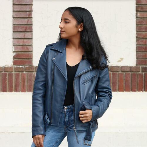 Jacket Biker Blu Rockstar Whet Leather W8IBZqZ