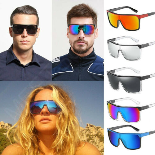 UV400 Unisex Sunglasses Men Women Vintage Steampunk Oversized Mirrored Glasses