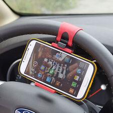 Supporto Telefono Smartphone Gps Universale Con Attacco Volante Auto Nuovo