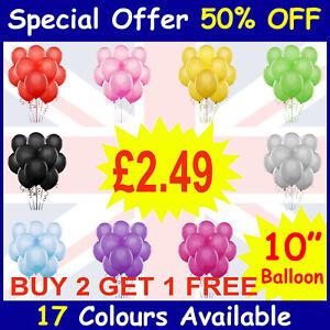 25-x-Latex-Plaine-Ballon-Ballons-Helium-Ballons-De-Qualite-Fete-Anniversaire-Colore