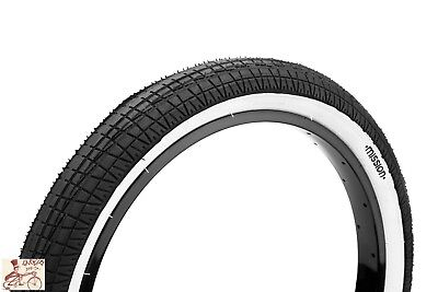 "MISSION FLEET 20/"" X  2.3/"" BLACK WIREBEAD BMX BICYCLE TIRE"