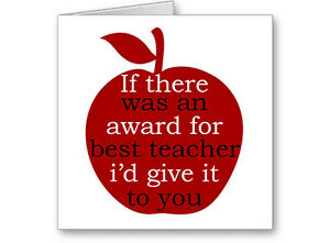 Unique-Personalised-Typographic-034-Award-for-Best-Teacher-034-Card-Next-day-Post