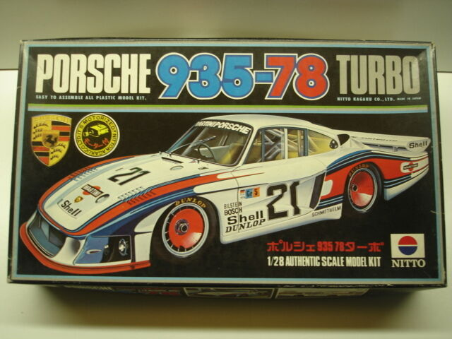 Nitto Vintage 1 28 Scale Motorised Porsche 935-78 Turbo Model Kit - New - Rare