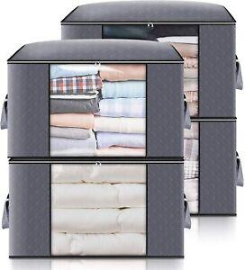4 x Scatole per armadio per coperte lenzuola vestiti, Organizzatore salva spazio