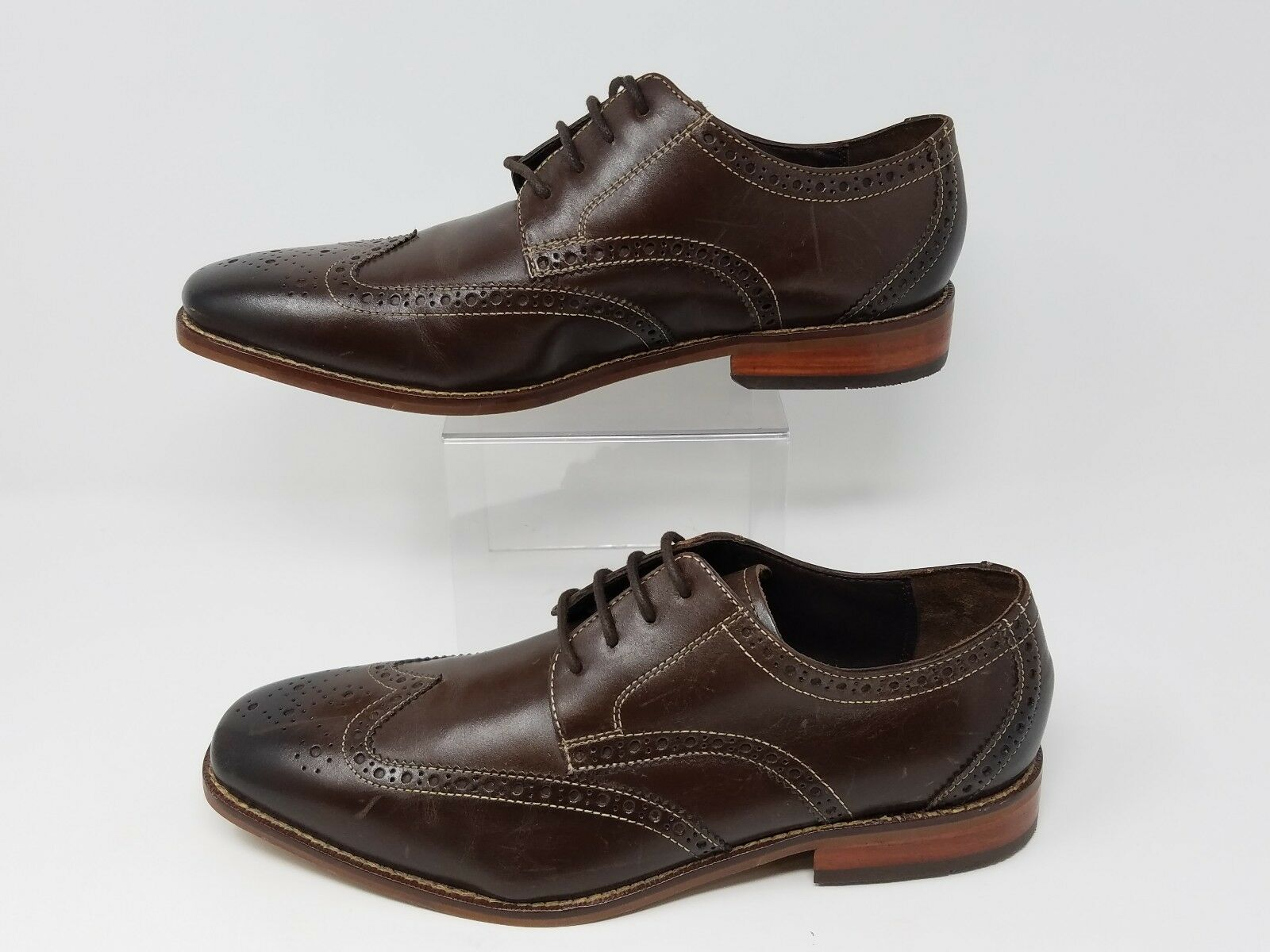 Florsheim Men's shoes Castellano Wing Tip Brown Leather 14137-200  sz 8.5 D