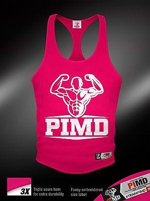 Pimd Pink/ White Bodybuilding Gym Stringer Vest Sik 2eros Degrees Mens New Nachfrage üBer Dem Angebot