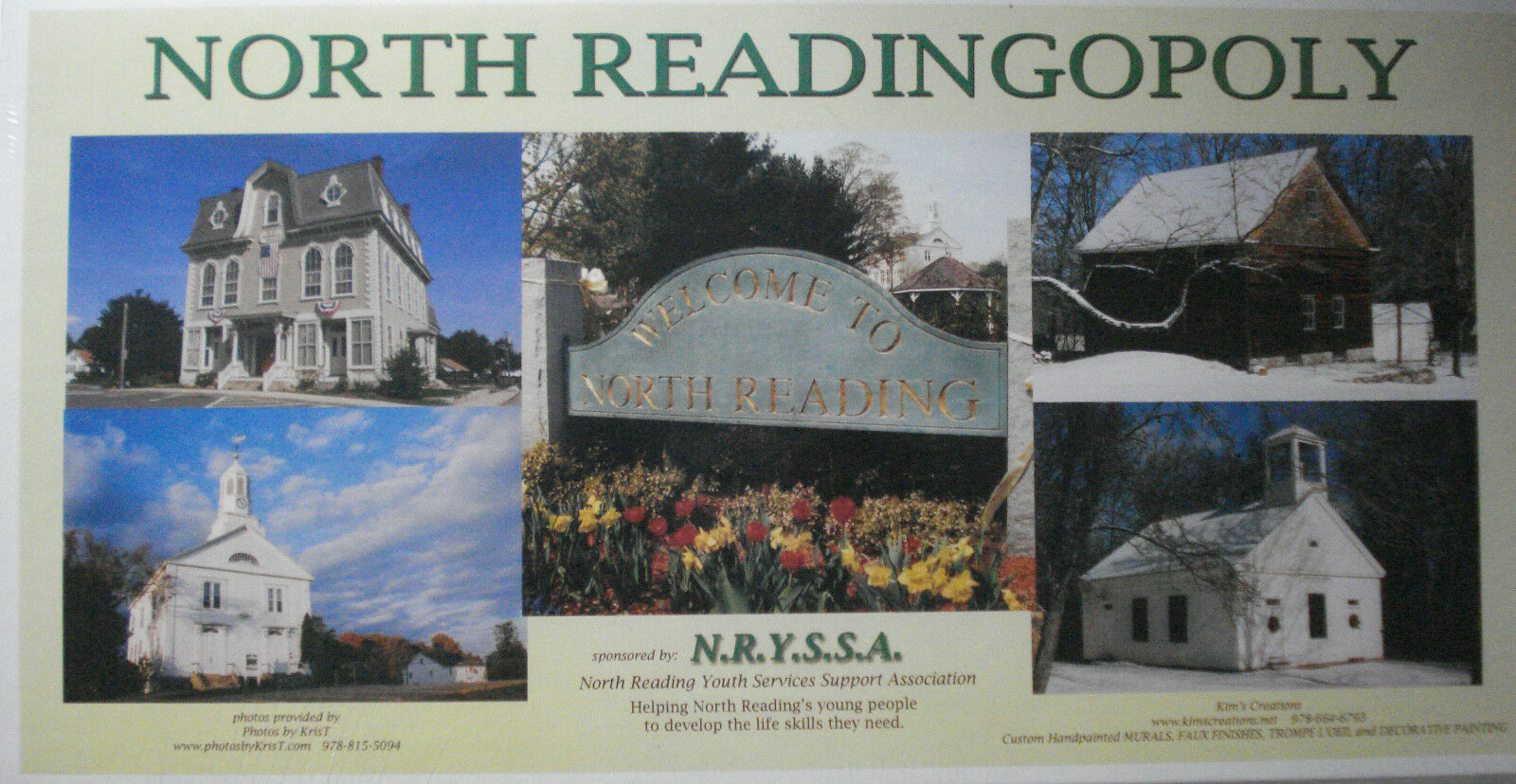North Readingopoly Board Game North Reading, MA New Sealed