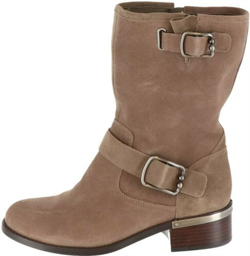 Vince Camuto Harnessed Mid-Calf Boots Wantilla Foxy Suede 10M NEW A354727
