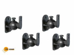 4-Stueck-Lautsprecher-Boxen-Halter-Wandhalter-Wandhalterung-Halterung-schwarz-TOP