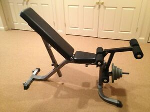 Parabody 874 Multi Angle Bench With Leg Curl Extension Attachment Ebay