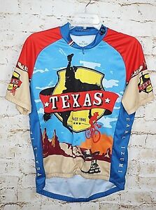 Pearl-Izumi-Mens-Medium-Texas-Since-1845-1-2-Zip-Cycling-Jersey-M-Select-Series