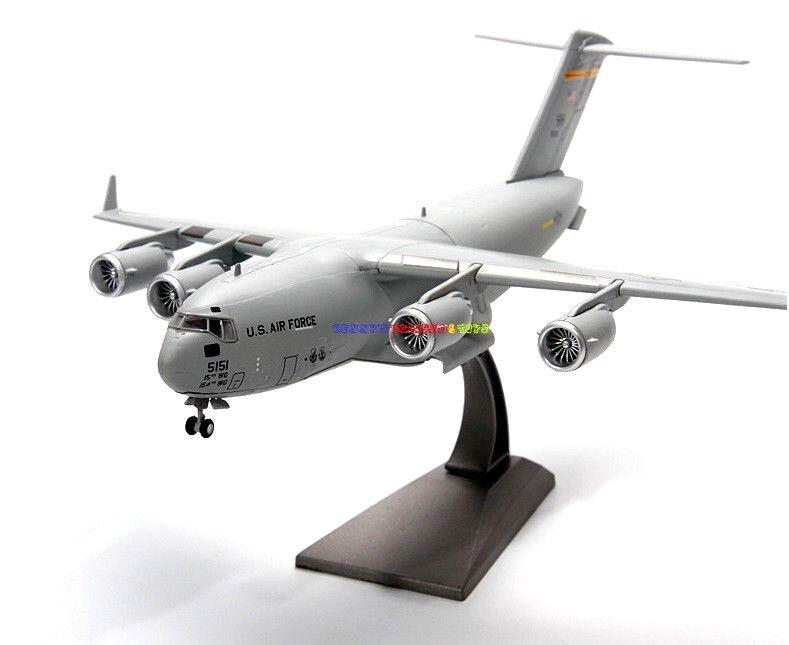 1 200 Diecast Planes USA Air Force C-17 Globemaster III American Aircraft Model