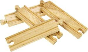 4 Rails en bois moyenne pour agrandir vos circuits de train,  Jouets en bois**