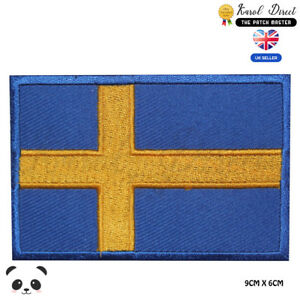 Sweden-National-Flag-Embroidered-Iron-On-Sew-On-Patch-Badge-For-Clothes-etc