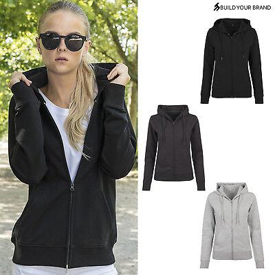 Praktisch Build Your Brand Women's Terry Zip Hoodie By069 - Full Zip Hoodie Sweatshirt