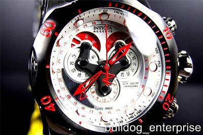 Men Invicta Reserve Venom Stainless Swiss Master Calendar Chronograph Watch New