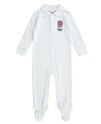 England Rugby Ufficiale Babygrow//Pigiama Età 3//6 mesi 6//9 mesi prezzo consigliato £ 14