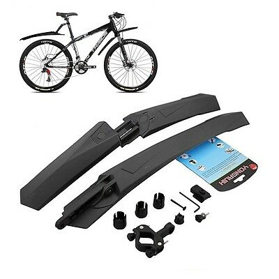 Black Cycling Mountain Bike Bicycle Front Mudguard + Rear Fender Mud Guard Set