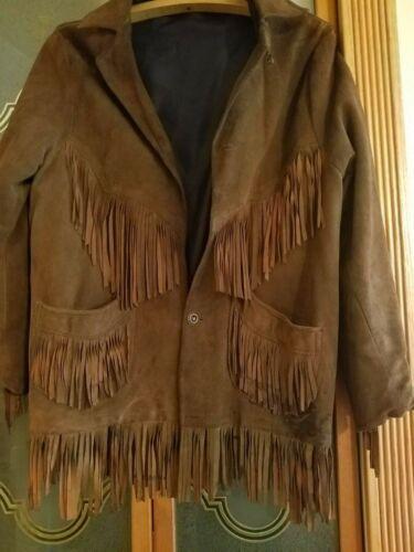 Vintage Suede Fringed Jacket