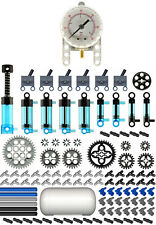 Lego Pneumatic MASTER Blue Kit   (technic,air,tank,cylinder,mini,pump,manometer)