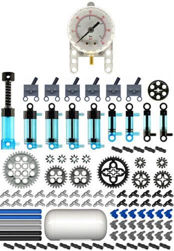 Lego Pneumatic MASTER Blue Kit technic,air,tank,cylinder,mini,pump,manometer