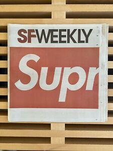 Supreme SF Weekly Newspaper Limited Edition San Francisco BOX LOGO NEW
