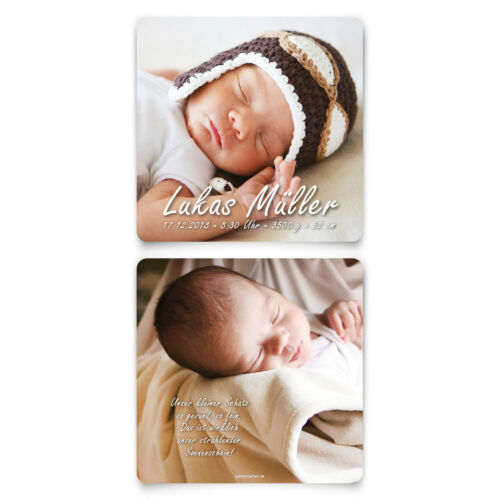 Fotokarte Geburtskarten Babykarten Geburt Baby Mädchen Junge