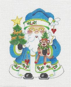 image is loading new strictly christmas santa with sock monkey handpainted - Strictly Christmas Needlepoint