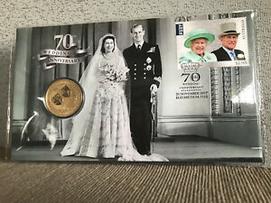 New-Mint-Uncirculated-Queen-70th-Wedding-Anniversary-1-Coin-PNC-Limited-to-7500