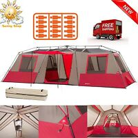 Ozark Trail 15 Person Instant Cabin Camping Tent Large 3 Room Family Split Base