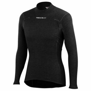 NEW Castelli FLANDERS Long Sleeve Thermal Cycling Base Layer, Black, Size Large