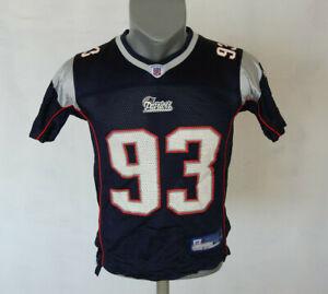 Details about New England Patriots #93 Richard Seymour Jersey NFL Blue Reebok Size Youth M Boy