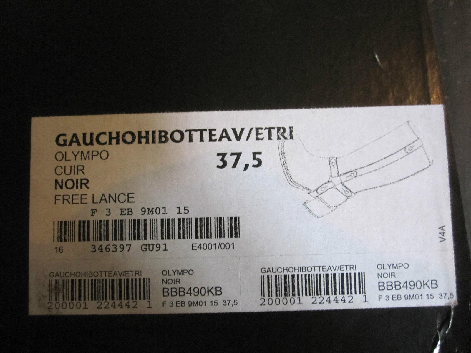 BOTTES FREE LANCE Modèle GAUCHO NOIRES T 37,5 NEUVES AVEC AVEC AVEC BOITE f1bc88