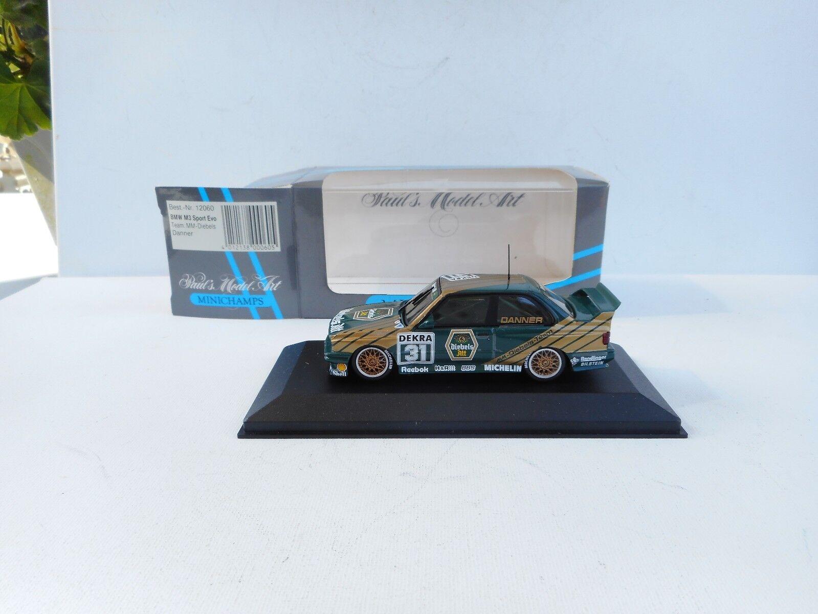 Minichamps 1 43 BMW M3 Sport Evo MM DIEBELS  DANNER  Nr.12060   Neu OVP