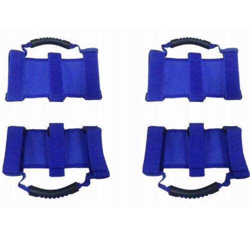 4 X Blue Car Interior Grab Handle Roll Bar Grab Handles Set For Jeep Wrangler #B